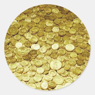 Goldmünzen Runder Aufkleber