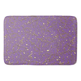 GoldMusiknoten-Muster auf Lila oder Ihrer Farbe Badematte