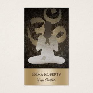Goldom-Symbol-Vintages Damast-Yoga u. Vermittlung Visitenkarten