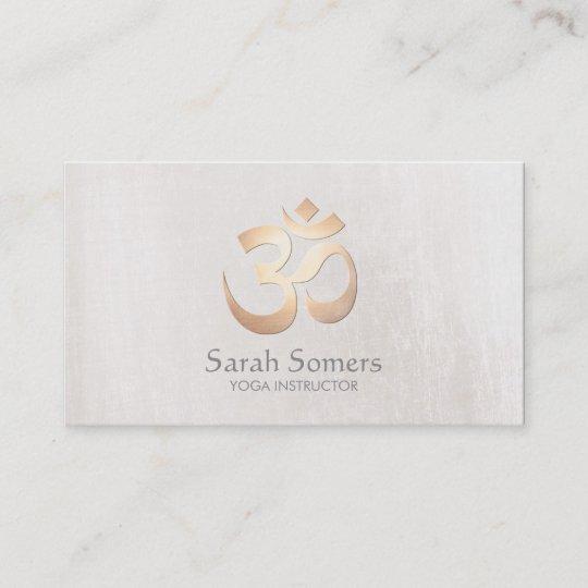 Goldom Symbol Yoga Und Meditations Lehrer Visitenkarte