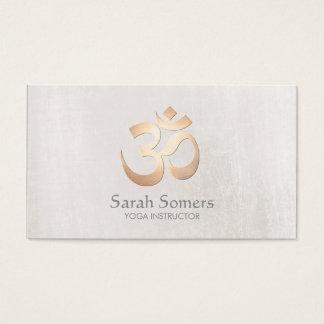 Goldom-Symbol-Yoga-und Meditations-Lehrer Visitenkarte