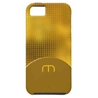 GoldPaillette-Monogramm iPhone 5 Hülle
