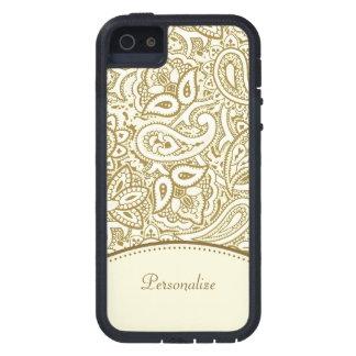 Goldpaisley-Muster iPhone 5 Etui