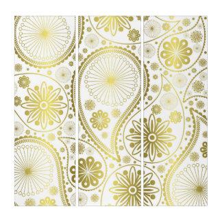 Goldpaisley-Muster Triptychon