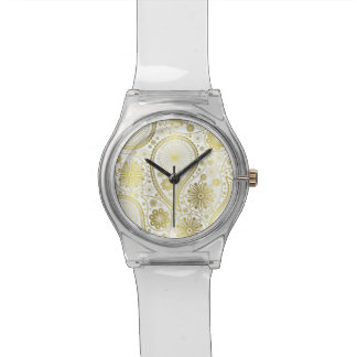 Goldpaisley-Muster Uhr