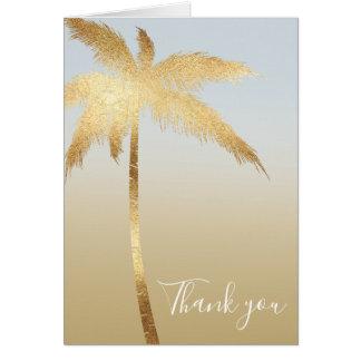 Goldpalme Ombre danken Ihnen Karte