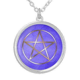 Goldpentagram-Stern-geheimnisvolle Halskette