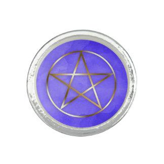 Goldpentagram-Stern-geheimnisvoller Ring
