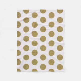 Goldpolka-Punkt-Fleece-Decken-Wohngestaltung Fleecedecke