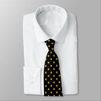 Goldpolka-Punkt-Muster-Krawatte Personalisierte Krawatten