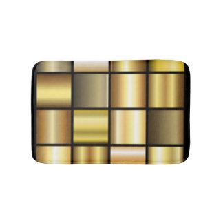 Goldquadratische Muster-Druck-Collage Badematte