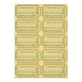 Goldraffle-Karten für Einladungen