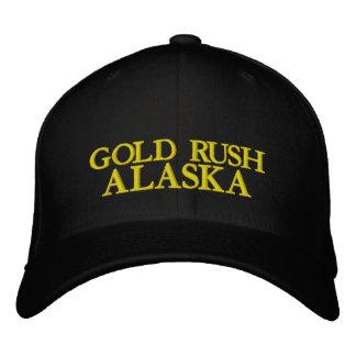 GOLDRAUSCH, ALASKA BESTICKTE KAPPE