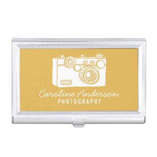 GoldRetro Kamera-Fotograf Visitenkarten Etui