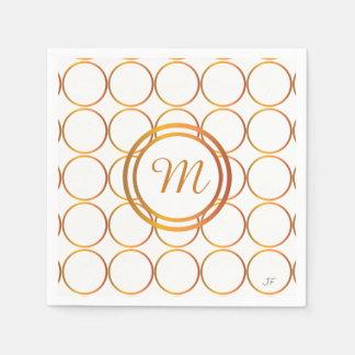 Goldringmonogramm Papierserviette