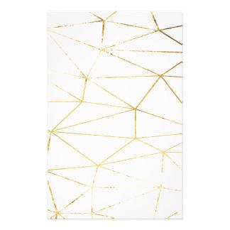 Goldrosa geometrisches briefpapier