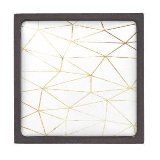 Goldrosa geometrisches schachtel