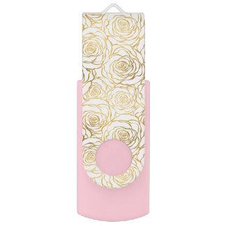 GoldRosen mit Rosa USB Stick