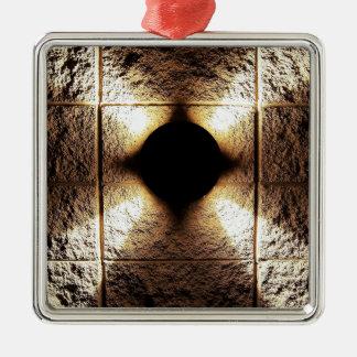 Goldrostiger brauner Kunstbrand-Rauch abstrakte Silbernes Ornament
