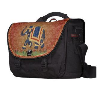Goldrote blaues Schwarzes Elefant-Pendler-Laptop-T Laptop Tasche