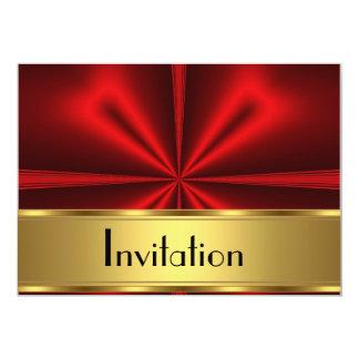Goldrote Einladung irgendein Party
