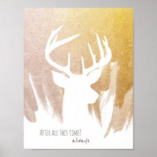 Goldrotwild Patronus Plakat