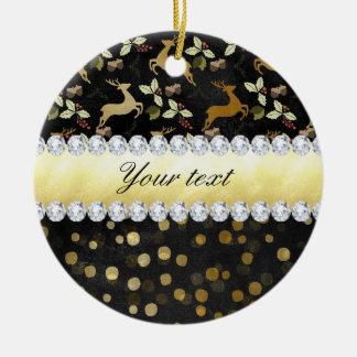 Goldrotwildconfetti-Diamant-Tafel Keramik Ornament