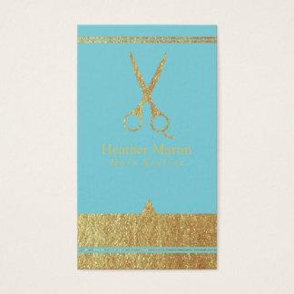 Goldsalon-Haar-Stylist-Verabredung kardiert Blau Visitenkarte