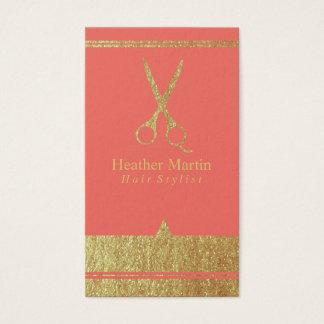 Goldsalon-Haar-Stylist-Verabredung kardiert Visitenkarte