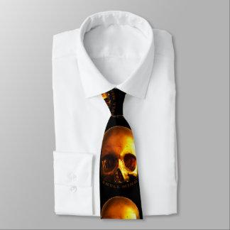 Goldschädel-Sinnesschwarz-Krawatte Krawatte