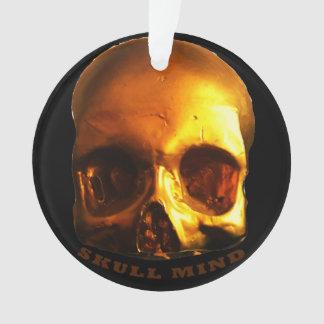 Goldschädel-Sinnesschwarzverzierung Ornament
