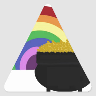 Goldschatz Dreieckiger Aufkleber
