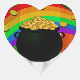 Goldschatz Herz-Aufkleber