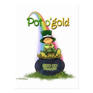 Goldschatz - irisches Glück Postkarte