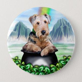 Goldschatz-Knopf Airedales Terrier Runder Button 10,2 Cm