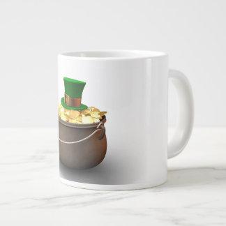Goldschatz mit Kobold-Hut Jumbo-Tasse