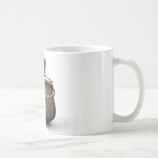Goldschatz mit Kobold-Hut Kaffeetasse
