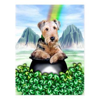 Goldschatz-Postkarte Airedales Terrier Postkarte