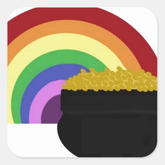 Goldschatz Quadratischer Aufkleber