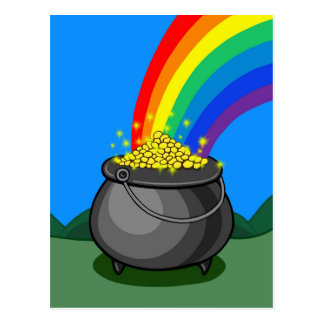 Goldschatz u. Regenbogen Postkarte