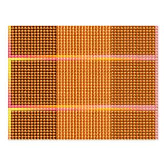 Goldschein-Edelsteine und Wellen-Kunst Spactrum Postkarten