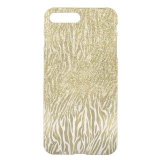 Goldschein-Imitat-Glitterzebra-Druck iPhone 8 Plus/7 Plus Hülle