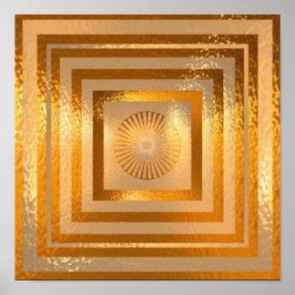 GOLDschein-Mandala Poster