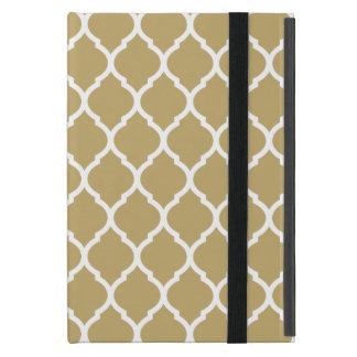 Goldschickes marokkanisches Gitter-Muster Etui Fürs iPad Mini