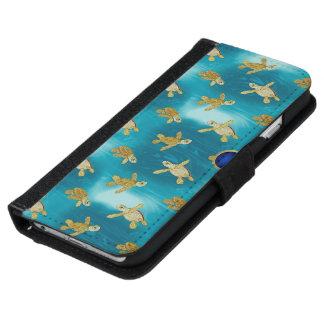 Goldschildkröten iPhone 6 Geldbörsen-Art-Fall Geldbeutel Hülle Für Das iPhone 6/6s
