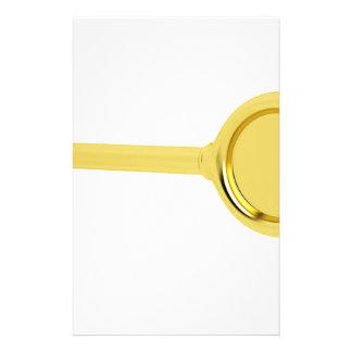 Goldschlüssel im Schlüsselloch Briefpapier