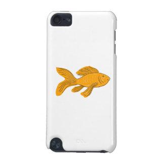 Goldschmetterling Koi Schwimmen-Zeichnen iPod Touch 5G Hülle