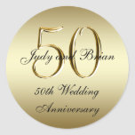 Goldschwarz-50. Hochzeitstag-Aufkleber