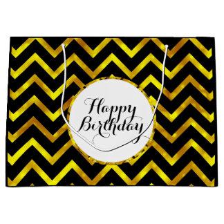 Goldschwarzer Geburtstag wünscht, dass | Große Geschenktüte