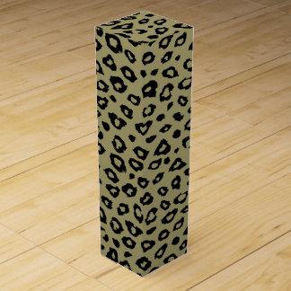 Goldschwarzer Leopard-Druck Weinbox